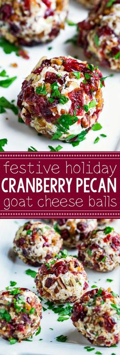 Mini Candied Pecan Cranberry Goat Cheese Balls - Peas And Crayons Quick, easy, and totally delicious, these Mini Candied Pecan Cranberry Goat Cheese Balls make a tasty party appetizer for fancy yet fuss-free entertaining! Thanksgiving Appetizers, Holiday Appetizers, Thanksgiving Recipes, Appetizer Recipes, Holiday Recipes, Snack Recipes, Cooking Recipes, Party Appetizers, Pecan Recipes