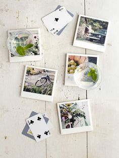 How to refocus plain ceramic tiles into snappy photo coasters #diy #crafts