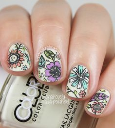 Intricate Floral Nail Art
