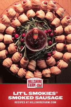 A wreath you can eat > than a wreath you can hang. We're no mathematicians, but that checks out. Make Things A Lit'l More Interesting™ with Lit'l Smokies® Smoked Sausage and this classic holiday appetizer recipe.