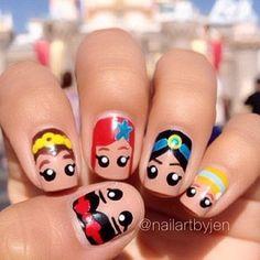 Disney Princess Nail Art Designs Cute