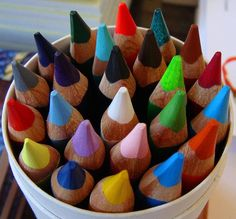 Can of colored pencils