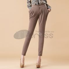 Stretch Slim waist harem pants