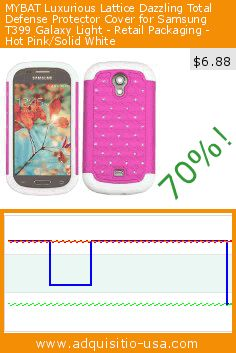 MYBAT Luxurious Lattice Dazzling Total Defense Protector Cover for Samsung T399 Galaxy Light - Retail Packaging - Hot Pink/Solid White (Wireless Phone Accessory). Drop 70%! Current price $6.88, the previous price was $23.25. https://www.adquisitio-usa.com/mybat/luxurious-lattice-2