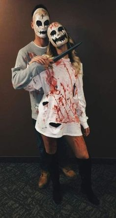 Purge Outfit Ideas 63 best halloween couple costumes from cute to scary 2019 Purge Outfit. Here is Purge Outfit Ideas for you. Purge Outfit halloween costume ideas that are guaranteed to impress. Purge Outfit pin on outfit insp. Couples Halloween Costumes Creative, Nurse Halloween Costume, Funny Couple Costumes, Diy Couples Costumes, Couple Halloween Costumes For Adults, Homemade Halloween Costumes, Adult Costumes, Costume Ideas, Funny Couples