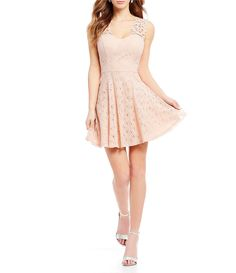 90247c82f1 Shop for Jodi Kristopher Sweetheart Neck Lace Fit-And-Flare Dress at  Dillards.
