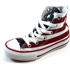 Sneaker met Amerikaanse vlag