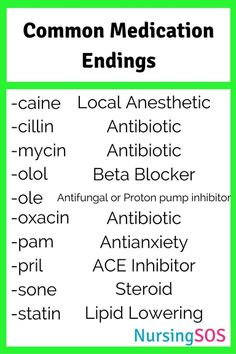 Medication Endings You Need to Know in Nursing School. Click through for Common Medication Endings You Need to Know in Nursing School. Click through forCommon Medication Endings You Need to Know in Nursing School. Nursing School Notes, Nursing Schools, Medical School, Pharmacy School, Nursing School Humor, Lpn Schools, Funny Nursing, Nursing School Motivation, Pharmacy Student