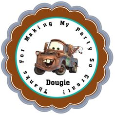 TOW MATER Personalized Stickers  Party Favors by KracklingKauldron, $5.00