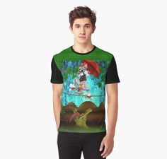Cute halloween The Cat, Mouse and crocodile Deadly circus Graphic T-Shirts #GraphicTShirts #tee #tshirt #clothing #crocodile #alligator #hauntedmansion #haunted #cartoons #kids #cat #mouse #Tom #Jerry #TomandJerry