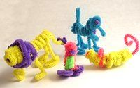 I am SO DOING THIS for our next road trip!!  Pipe Cleaner Creatures   by Laurel Smith  A Crafty Activity for the Road
