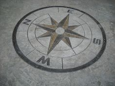 Compass Rose in Stamped Concrete