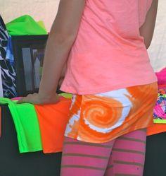 Orange Swirl Beach Bumwrap over tights!
