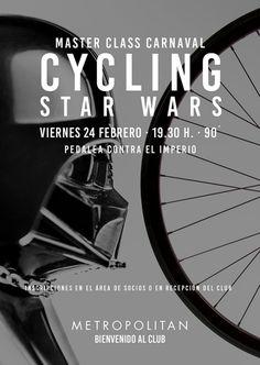 Pedalea contra el Imperio en nuestra Master Class Especial de Carnaval Cycling Star Wars. ¡Te esperamos el próximo viernes,  24 de febrero a las 19.30h. en Metropolitan Eurobuilding!  Inscripciones en el Área de Socios o en Recepción del Club