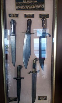 Originals bowie knives, from 1820 to 1870.