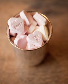 ♕ little pink Valentine hearts