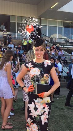 Race day dress, fascinator, races hat, hatinator, Ascot, Derby, Melbourne cup, fashions on the field.