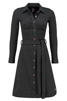Tante Betsy Button dress Black