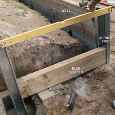 step three how to install a retaining wall