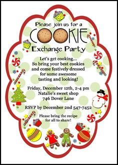 cookie party invitation wording