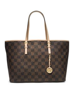 MICHAEL Michael Kors  Jet Set Multifunction Logo Travel Tote.  OMG a BROWN checkered bag by MK!!!