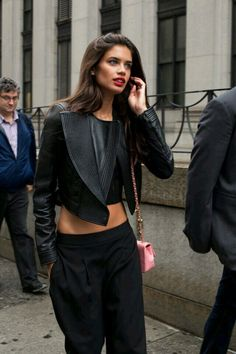 "streetofstyle: "" Sara Sampaio "" www.fashionclue.net 