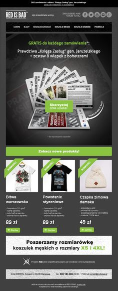Projekt newslettera przygotowany dla sklepu redisbad.pl / https://panel.sendingo.pl/kampania/3pb / #newsletter #email #mailing #ecommerce #sale #promotion #template