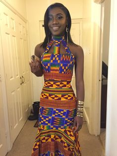 My prom dress, african clothing, kente cloth, africa, African Fashion Designers, African Fashion Ankara, African Inspired Fashion, African Print Fashion, Africa Fashion, African Wedding Attire, African Attire, African Wear, African Dress