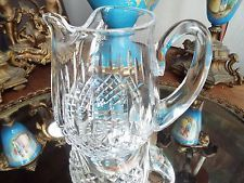 WATERFORD CRYSTAL GLASS LISMORE SIGNED ICE LIP WATER PITCHER OR JUG NR - $49.99