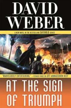 At the sign of triumph by David Weber. Click on the image to place a hold on this item in the Logan Library catalog.
