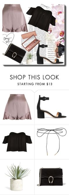 """""""Summerish"""" by alinnas ❤ liked on Polyvore featuring Zimmermann, Gianvito Rossi, Urban Decay, River Island, NARS Cosmetics, Lilou, Allstate Floral and Gucci"""