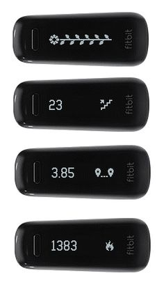 Fitbit One!  I love mine!!!  Really cool device!!