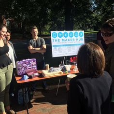 Just a few minutes left to meet #MakerHub staff at #Elon #CollegeCoffee! Come learn about our Maker Meetups!