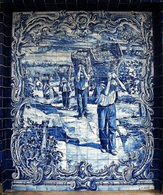 Portuguese Culture, Portuguese Tiles, Tile Art, Mosaic Tiles, Saint Marin, Istanbul Travel, Matchbox Art, Blue Tiles, Delft