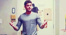 If Zac Efron is good at anything, it is being shirtless — and we're not complaining. See the best GIFs now.