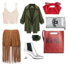 """""""Street Fashion Style"""" by julia-jouristika on Polyvore featuring мода, Sans Souci, WithChic, Kenzo, Yves Saint Laurent и Gucci"""