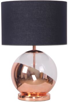 Caleb Table Lamp, Copper | BHS