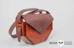 Wooden clutch Wooden bag Messenger bag Unique by WoodmanShop