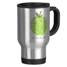 WANT!! Special Education Teacher Green Apple Mug