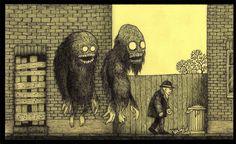 John Kenn - Illustration - Post-It Monster