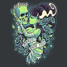 Super LikeLikes: Made For You Tshirt Print Design by Jehsee #frankenstein