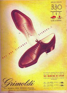 Calzado GRIMOLDI, década del 50.