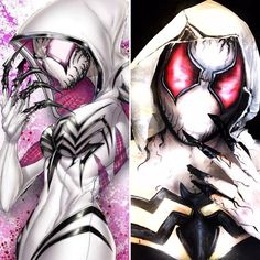 Gwenom body paint & cosplay. Follow @thefauxchanel for more crazy DCCOMICS & MARVEL makeup looks! . #gwenom #gwenstacy #venom #spiderman #spiderverse #marveluniverse #marvelcomics #makeuplooks #halloweenmakeup Body Paint Cosplay, Venom Spiderman, Spider Verse, Halloween Make Up, Marvel Universe, Body Painting, Marvel Comics, Makeup Looks, Superhero