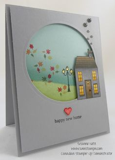 House warming Card featuring Stampin' Up! products created by SuNN Stampin'.