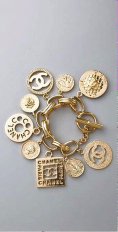 Coveting A Vintage Chanel Bracelet - CHANEL Vintage Charm Bracelet…… I want it! Source by DesdaemonaA - Chanel Bracelet, Chanel Jewelry, Jewelry Box, Jewelry Accessories, Fashion Accessories, Fashion Jewelry, Jewelry Stores, Etsy Jewelry, Stud Earrings