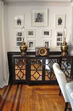Love the mirrors added to this sideboard. Apartment Therapy