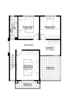4 bedroom 2 story house plans modern house plan like model is a 4 2 Story House Design, House Floor Design, Modern House Floor Plans, Pool House Plans, 4 Bedroom House Plans, Small House Design, Small House Plans, Two Storey House Plans, Model House Plan
