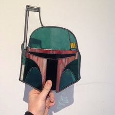 The Stained Glass Geek made this amazing Boba Fett Helmet.  Nice gift for a Star Wars fan!