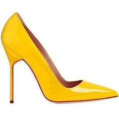 Manolo Blahnik - Major crush on yellow!! #manoloblahnikheelsfallwinter #manoloblahnikheelsstilettos