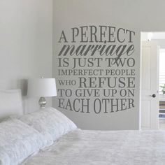 A Perfect Marriage Wall Decal